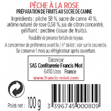 CONFITURE DE PECHE A LA ROSE AU SUCRE DE CANNE