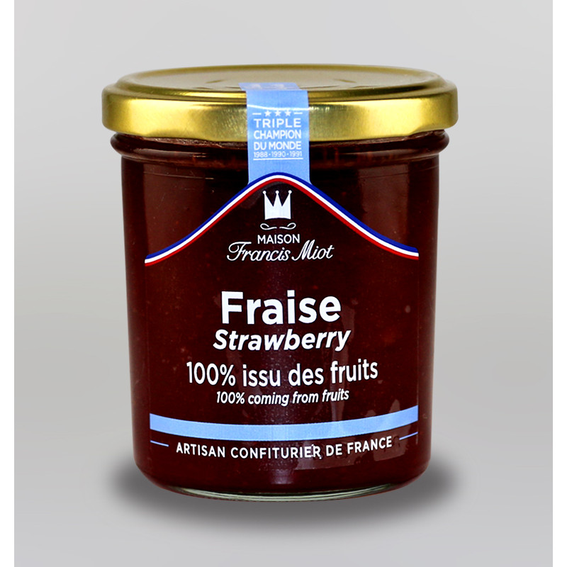 CONFITURE DE FRAISE 100 % ISSU DES FRUITS