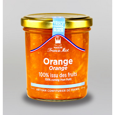 CONFITURE D'ORANGE 100 % ISSU DES FRUITS