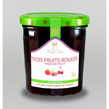 CONFITURE DE 3 FRUITS ROUGES AU FRUCTOSE