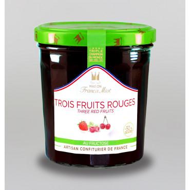 CONFITURE DE 3 FRUITS ROUGES AU FRUCTOSE