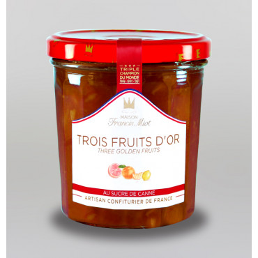CONFITURE DE 3 FRUITS D'OR AU SUCRE DE CANNE