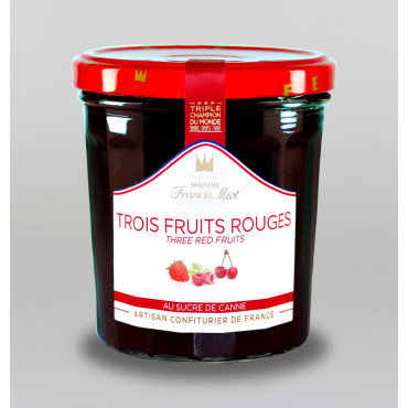 CONFITURE DE 3 FRUITS ROUGES AU SUCRE DE CANNE