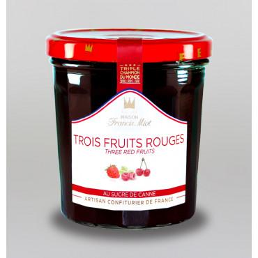 CONFITURE DE 3 FRUITS ROUGES AU SUCRE DE CANNE