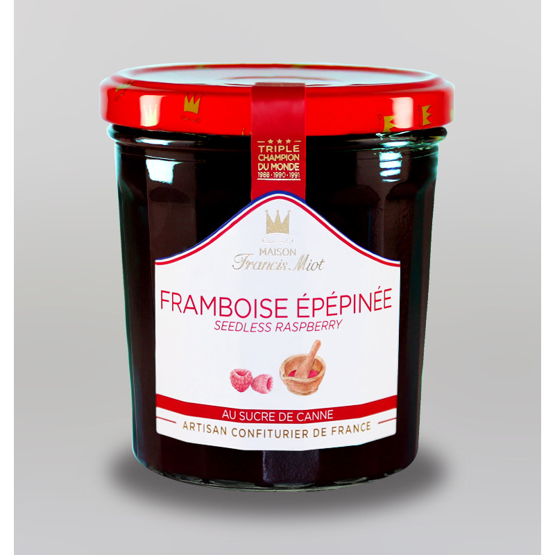 CONFITURE DE FRAMBOISE EPEPINEE AU SUCRE DE CANNE