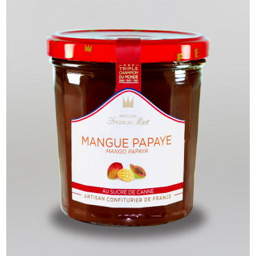 CONFITURE DE MANGUE & PAPAYE AU SUCRE DE CANNE
