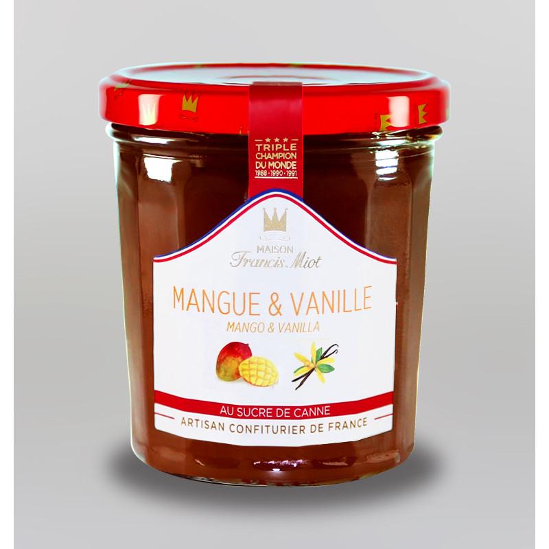 CONFITURE DE MANGUE & VANILLE AU SUCRE DE CANNE