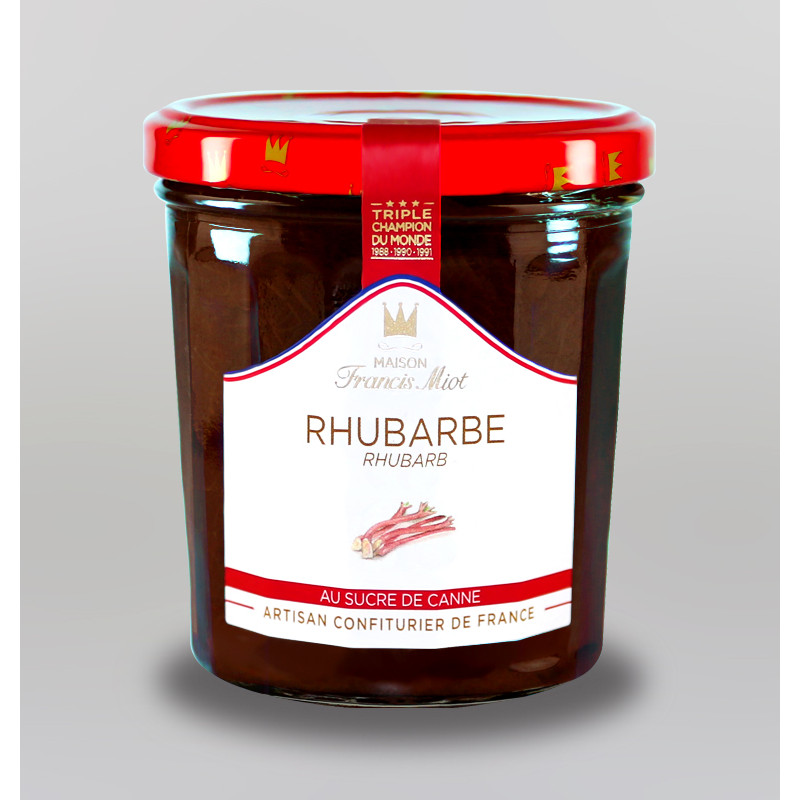 CONFITURE DE RHUBARBE AU SUCRE DE CANNE