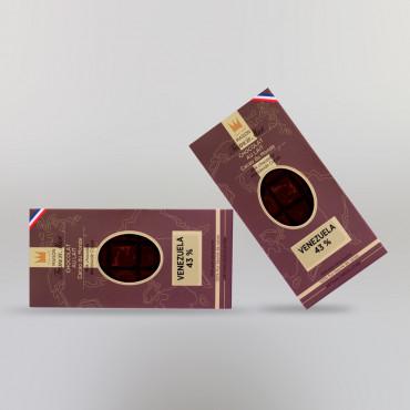 CHOCOLAT AU LAIT DU VENEZUELA (43% DE CACAO)