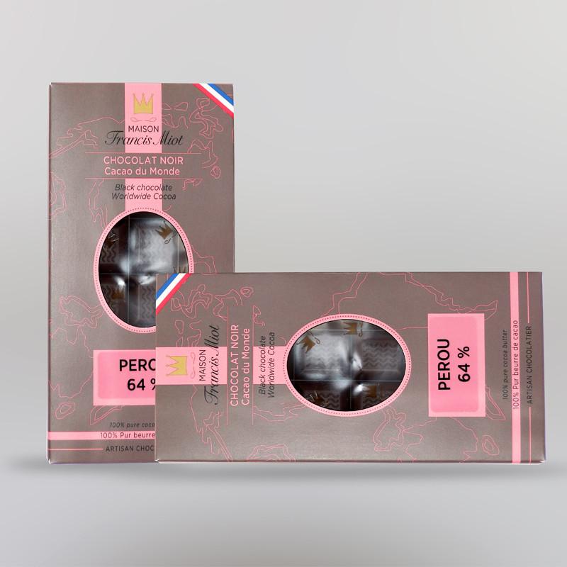 CHOCOLAT NOIR DU PEROU (64% DE CACAO)