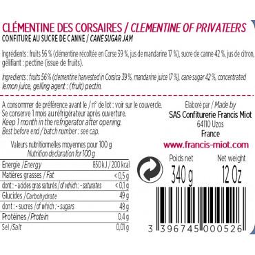 CONF DE CLEMENTINE DES CORSAIRES AU SUCRE DE CANNE