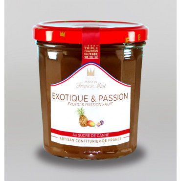 CONFITURE EXOTIQUE PASSION AU SUCRE DE CANNE