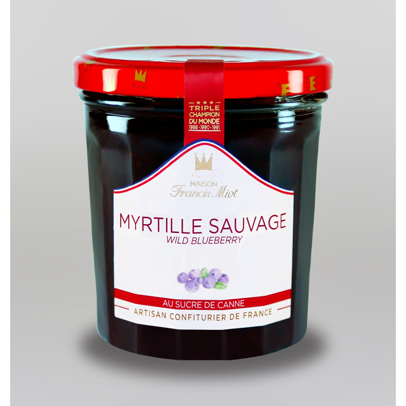 CONFITURE DE MYRTILLE SAUVAGE AU SUCRE DE CANNE