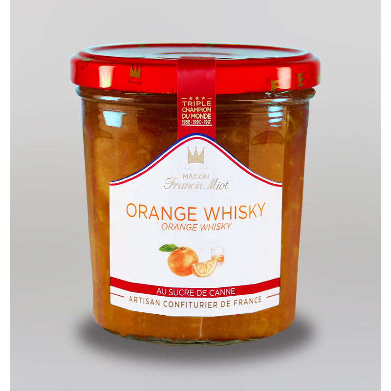 CONFITURE D'ORANGE WHISKY AU SUCRE DE CANNE