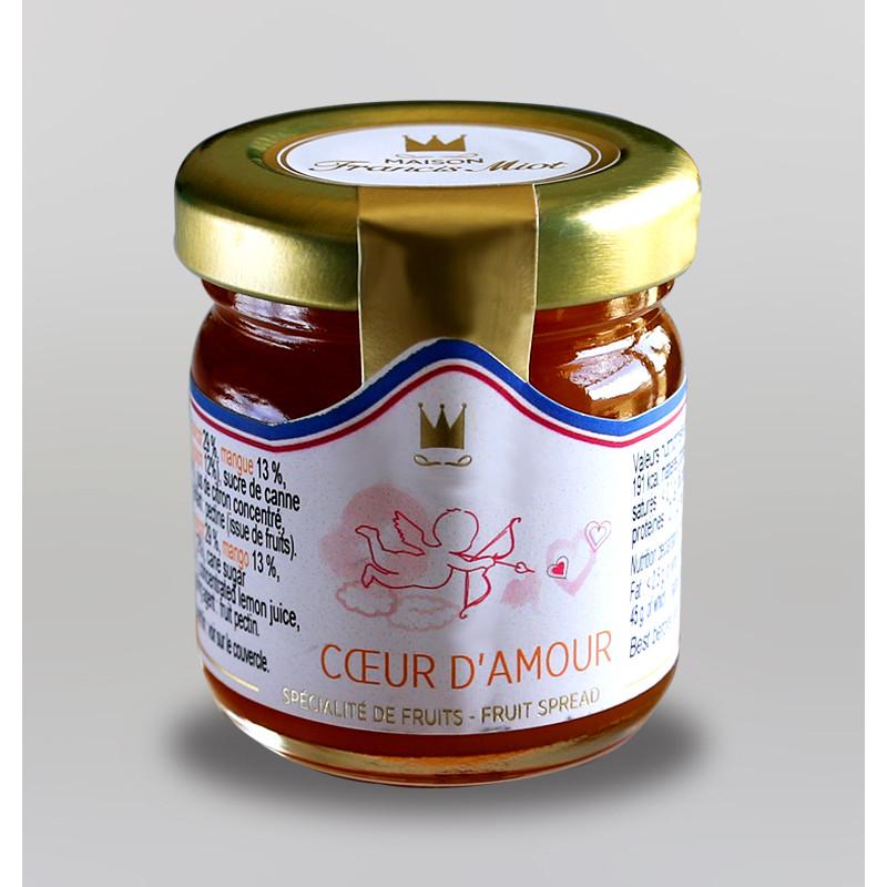 CONFITURE COEUR D'AMOUR AU SUCRE DE CANNE