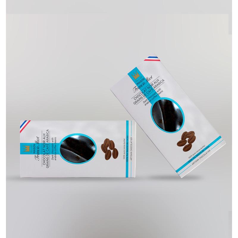 CHOCOLAT NOIR AUX GRAINS DE CAFE ARABICA