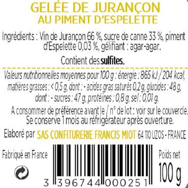 GELEE DE JURANCON AU PIMENT D'ESPELETTE