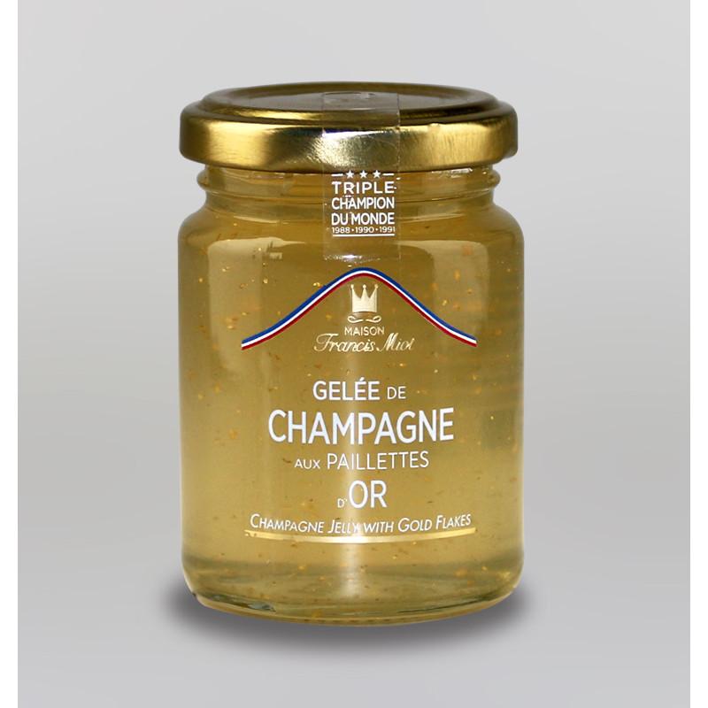 GELEE DE CHAMPAGNE AUX PAILLETTES D'OR