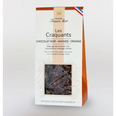 CRAQUANTS CHOCOLAT NOIR - AMANDE - ORANGE