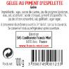 GELEE DE PIMENT D'ESPELETTE