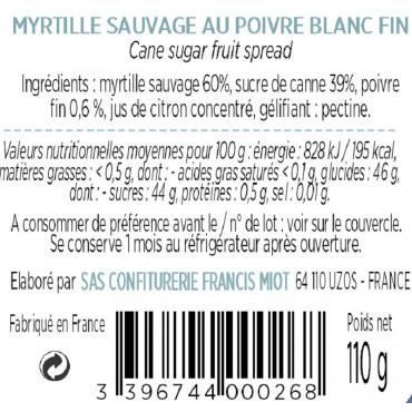 CONFITURE DE MYRTILLE AU POIVRE BLANC
